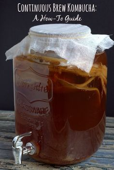 Continuous Brew Kombucha: A How-To Guide. Brew your own Kombucha using this easy method. | thecookspyjamas.com