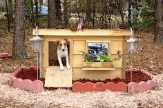 Ripley - Georgia: several years of being tried and tested, this dog house has been proven to be the most comfortable and the safest home you can build for your beloved dog. Dog House Bed, Build A Dog House, Dog House Plans, Custom Dog Houses, Cool Dog Houses, Cat Houses, Cool Dog Beds, Police Dogs, Animal House