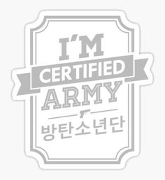 Certified BTS ARMY Pegatina