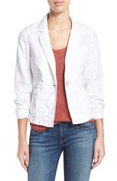Caslon® Linen One-Button Jacket (Regular & Petite) available at Nordstrom.