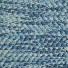 Herringbone, blue mix 0515 on the natural yarn Vandra Rugs Yarn Colors, Natural Linen, Scandinavian Design, Herringbone, Wool Felt, Bespoke, Rugs, Interior, Blue