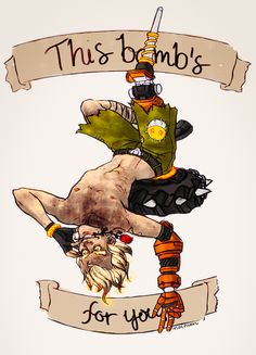 A pin-up Junkrat. This was never supposed to happen. Primed and Ready Junkrat Fanart, Jamison Fawkes, Junkrat And Roadhog, Video Game Addiction, Overwatch Memes, Video Games Funny, Celebration Quotes, Geek Stuff, Humor