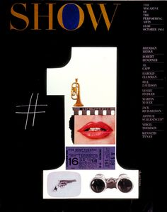 cMag242 - Show Magazine cover by Henry Wolf / October 1961