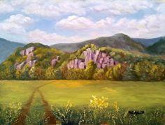 Summer on the Valley Floor by Sharon Allen oil plein air ~ 9 x 12