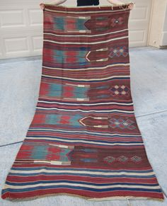 Early-mid 19th Century West Anatolian SAF, Turkish utilitarian kilim. All natural vegetable and root colors... This one is exceptional and very rare! Contact me for details and information.