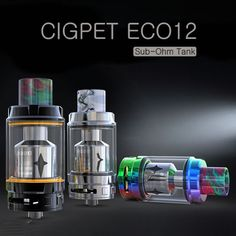 iJoy Cigpet Eco 12 Tank 6.5ml In Stock! http://vape.market/ijoy-cigpet-eco12-tank-6-5ml.html