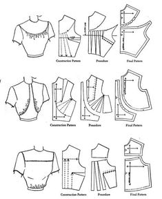 Dart Manipulation, Fashion Infographic, Fashion Templates, Skirt Patterns Sewing, Sewing Basics, Glamour, Rubrics, Pattern Books, Sewing Clothes