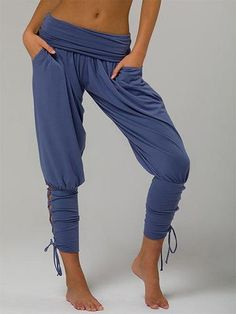 7319fe501ae High Waist Hollow Out and Cross Tied Jogger Pant