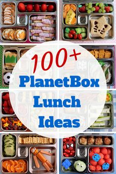 Over a hundred photos of kid lunches packed in PlanetBox bento boxes!