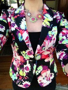 Floral Candie's blazer