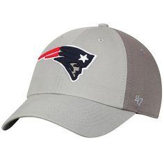 New England Patriots  47 Northside Clean Up Adjustable Hat - Gray Dark Gray 57c4cb5d1af7