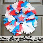 Tutorial: Patriotic Wreath from Picnic Supplies