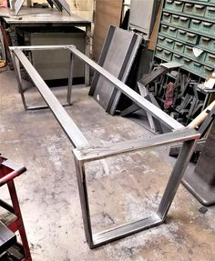 Trapezoid Steel Legs with 2 Braces, Model Dining Table Industrial Legs, Set of 2 Legs and 2 Braces Furniture Logo, Steel Furniture, Rustic Furniture, Table Furniture, Cool Furniture, Furniture Online, Furniture Plans, Bedroom Furniture, Modern Furniture