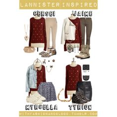 """""""Lannister inspired outfits with requested sweater"""" by withfashionandblood on Polyvore"""