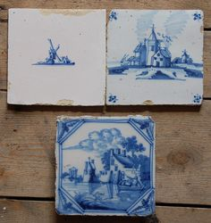 Delft tiles scenery and windmills