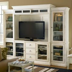Summer Hill Complete Home Entertainment System - Cotton - TV Stands at Hayneedle