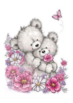 Wild Rose Studio Clear Stamp - Bear Hugs