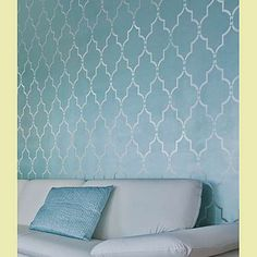 Marrakech Trellis Allover Stencil $39.95. Awesome on walls, rugs, floors...