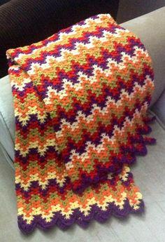 Liesure Arts Lacy Chevron, I also call it Amish Ripple. Afghan Crochet Patterns, Crochet Stitches, Crochet Fall, Knit Crochet, Crochet Designs, Knitting Designs, Crochet Bedspread, Crochet Afgans, Yarn Shop