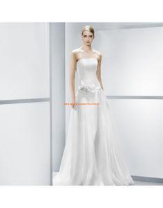 Glamouröse trägerlose A-linie Brautkleider mit Schärpe - Jesús Peiró
