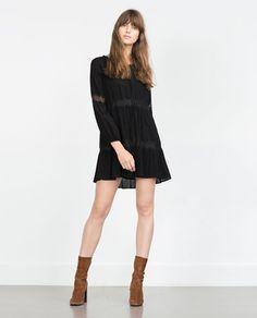 FLOWING DRESS-Mini-Dresses-WOMAN   ZARA United States