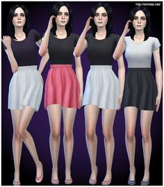 T-Shirt Dresses Collection at Simista via Sims 4 Updates  Check more at http://sims4updates.net/clothing/t-shirt-dresses-collection-at-simista/
