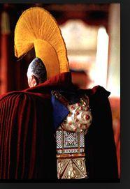 Buddhist head gear