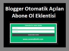 Blogger Otomatik Açılan Abone Ol Eklentisi