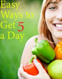 Easy Ways to Eat 5 Fruits & Veggies Each Day | via @SparkPeople #diet #nutrition #food #RockYourResolution