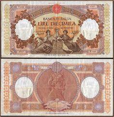 Collezione Personale di Banconote Italiane: 0.2.3. - 10000 LIRE MARINARE