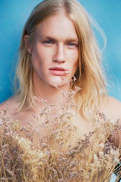 Rachel Thalia photography - This Rachel Thalia photography features fresh face Mark M, who is captured for F****** Young! The long-haired model pulls off an androgynou. Male Models Tumblr, Blonde Male Models, Blue Eyed Men, Blonde Guys, 2015 Hairstyles, Most Beautiful Man, Gorgeous Men, Thalia, Male Beauty