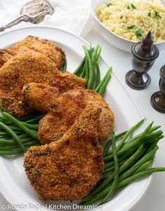 These Crispy Breaded Pork Chops are golden brown, delicious, and ready in just 12 minutes with this easy air fryer recipe. The flavorful outer coating starts with panko bread crumbs for added texture along with herbs and spices you already have in the pantry. Pork Chops Bone In, Breaded Pork Chops, Air Fryer Pork Chops, Air Fryer Dinner Recipes, Best Dinner Recipes, Air Fryer Recipes, New Recipes, Delicious Recipes, Yummy Food