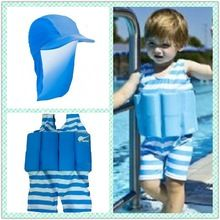 Boys Toddler Swim School Training Swimming Aid Floatsuit SET UV (SPF50) Sun Protection Float Suit With Adjustable Buoyancy F4341