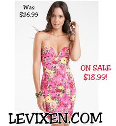 ♥   ♥   Flirty in Floral  ♥   ♥   Dress on Sale! Shop yours before they run out!  FREE SHIPPING ON ORDERS $60 & UP!  #womensclothing #sexy #sexydress #happy #love #model #partydress #floral #flowers #floralprint #sweetheart #strapless #sale #flirty #summer #humpday #ootd #lookbook #dailylook