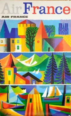 Air France #travel #poster by gloriaU