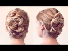 Причёска из узелков на невидимках - Hairstyles by REM - YouTube