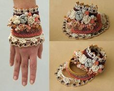Pulseras hechas con abalorios  y crochet Floral, Flowers, Rings, Jewelry, Fashion, Jewellery Making, Moda, Florals, Jewellery