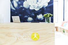 Wallpaper and Ply! Light Space Yoga Studio designed by Sage and Clare