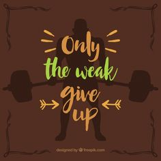 Crossfit quote with brown background Free Vector