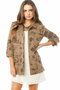 Downtown Rose Cargo Jacket {$69}