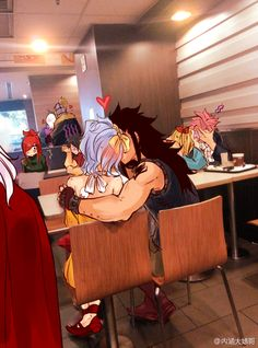 Can we take a second and look at Natsu putting his arm around Lucy. NaLu! But their reaction is awesome!<<< Does anyone even notice Lissana?? And Bixlow in the background!? XD