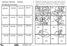 calculo mental 01 Maths Puzzles, Diagram, Classroom, Teaching, Mental Calculation, Fun Math Activities, Multiplication Tables, Learning, First Grade Math