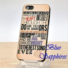 One Direction Lyric For iPhone 4/4s case iPhone 5/5s/5c case and Samsung Galaxy S3/S4 From Blues Sapphires Shop on Etsy, $14.49