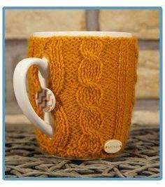 handmade kubek w sweterku ręcznie robiony robert