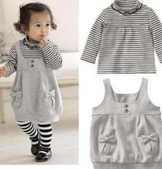 Baby girl suit/ Striped shirt+ suspender skirt/New arrive 2013 on AliExpress.com. 15% off $10.97