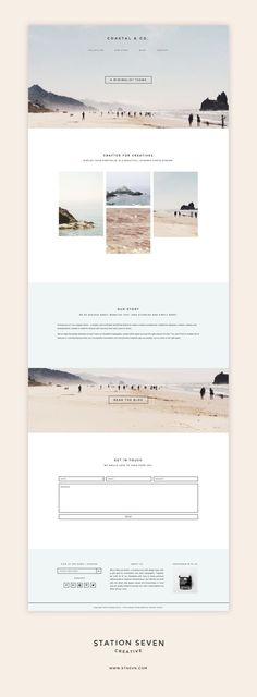 Say hello to the Coastal WordPress theme. A minimalist design paired with eComm . design - Say hello to the Coastal WordPress theme. A minimalist design paired with eComm The Effective Pictu - Layout Design, Design De Configuration, Layout Web, App Design, Branding Design, Branding Agency, Flat Design, Web Design Color, Design Typography
