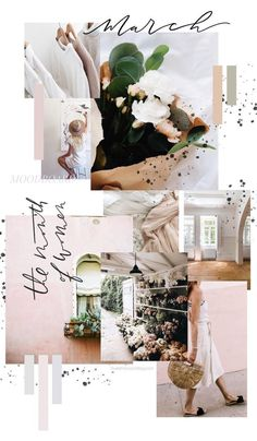 March Moodboard - Blush Tones - Trend Home Design Ideen 2019 Web Design, Logo Design, Website Design, Layout Design, Design Blogs, Design Art, Design Ideas, Interior Design, Mode Collage