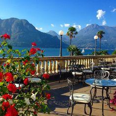 Incredible views from the terrace of the Grand Hotel Villa Serbelloni, Bellagio, Italy. Photo courtesy of tavoladelmondo on Instagram.