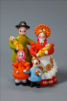Masters of Craft : Folk clay toys from Russia Ceramic Figures, Clay Figures, Clay Ornaments, Vintage Ornaments, Kitsch, Decoration, Art Decor, Russian Folk Art, Russian Style