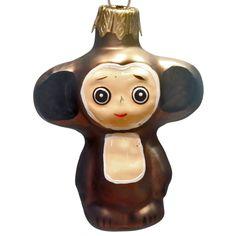 Чебурашка, стеклянная игрушка - SCORPIO - Магазин подарков, декора, иллюминации